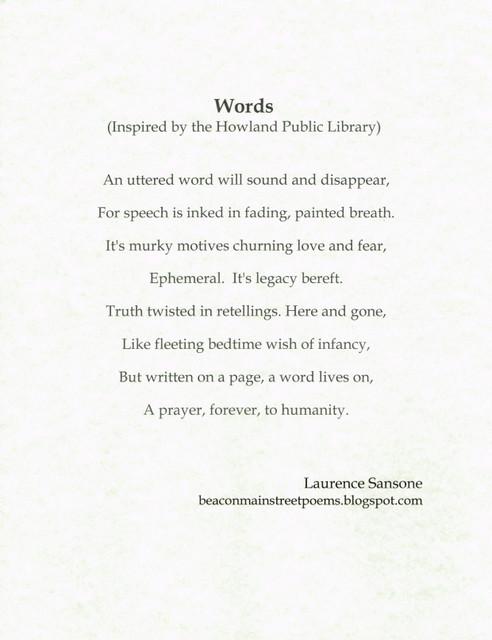Poem by Larry Sansone