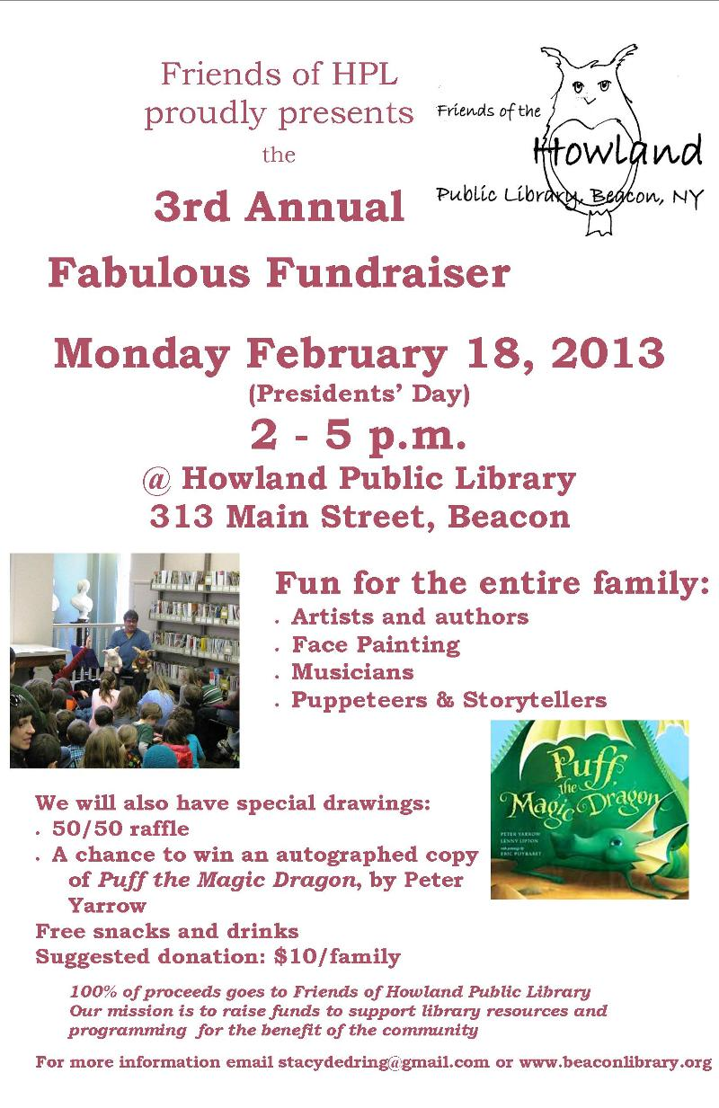 Friends of HPL Fundraiser 2013
