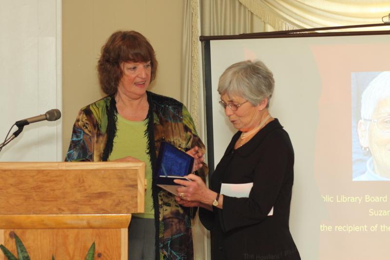 HPL President Marcia Frahman and Savoit Award Recipiant Suzanne McElduff