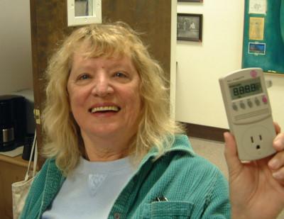 Marcia Frahman and Kill-a-Watt Device