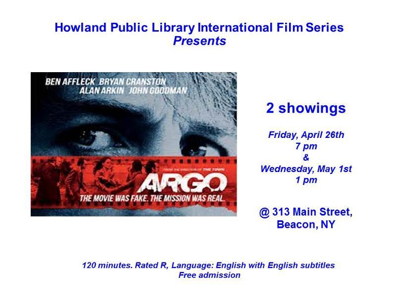 Argo Poster for HPL Film Series
