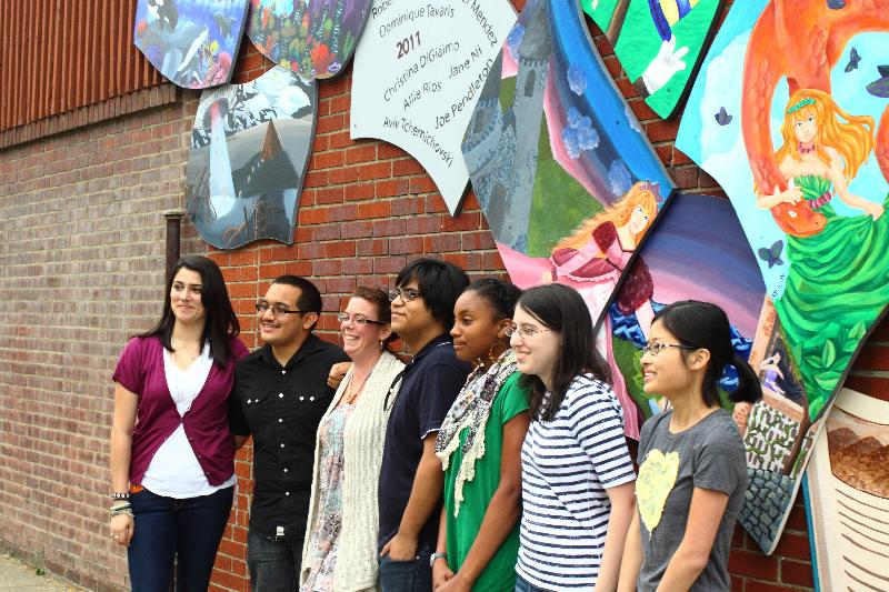 Beacon High School Student Mural at Howland Public Library