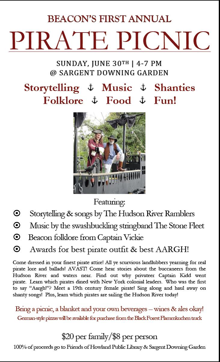Friends of HPL Pirate Picnic Poster 2013