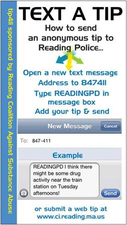 text a tip card photo