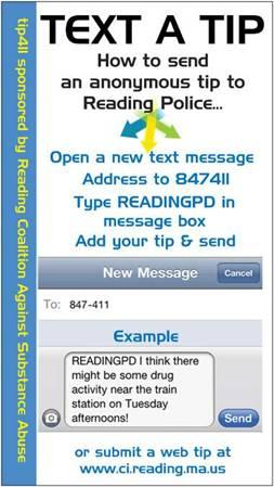 text a tip card photo