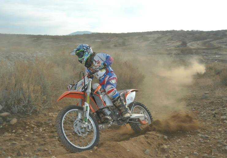 Sammy testing his new KTM 200