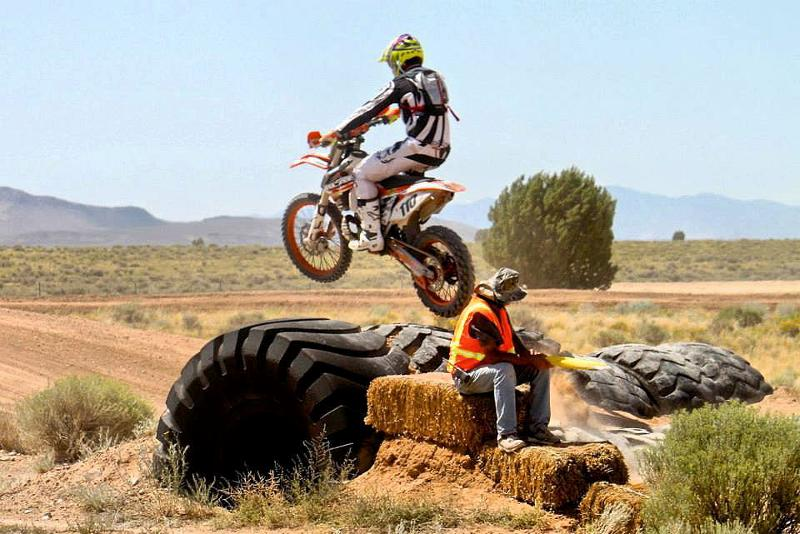 Skyler airing out the Endurocross tires!