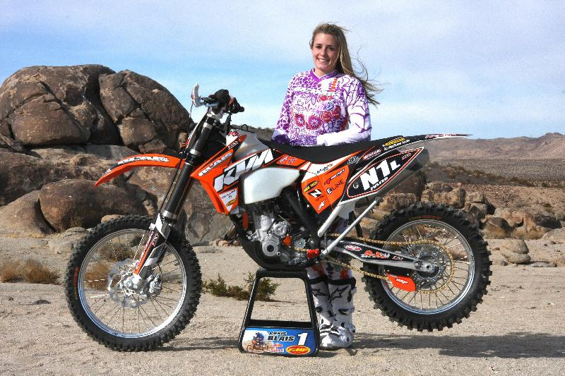Shayla Fulfer and her Blais Racing KTM 350