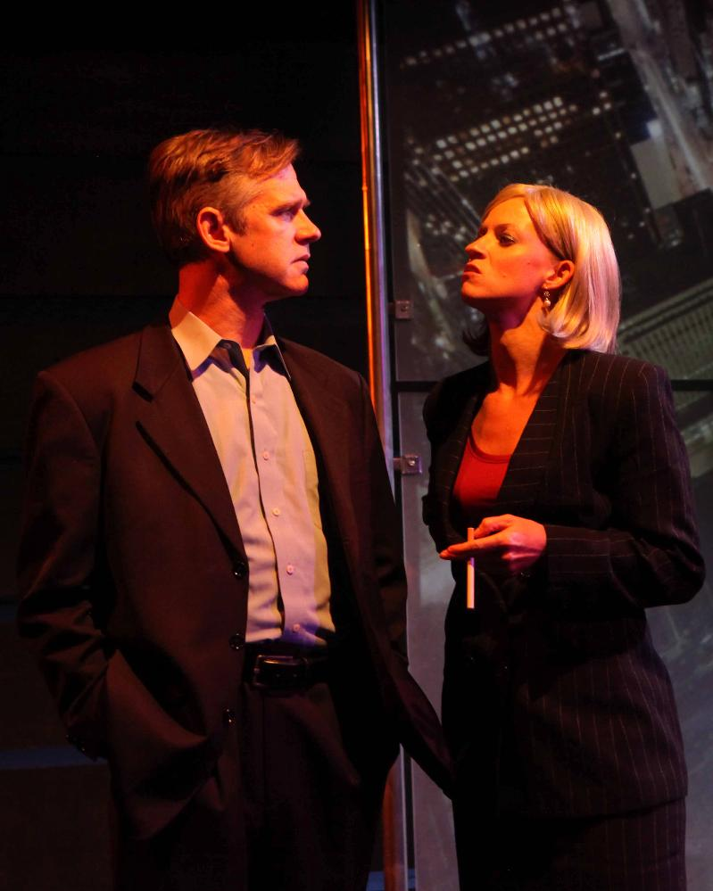 Jonathan Rhy Williams & Shannon Mahoney in ENRON at Cap Stage
