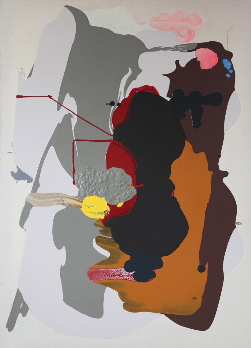Maggie Michael, Lick, 2003, acrylic and ink on canvas, 72 x 52 inches, courtesy of G Fine Art