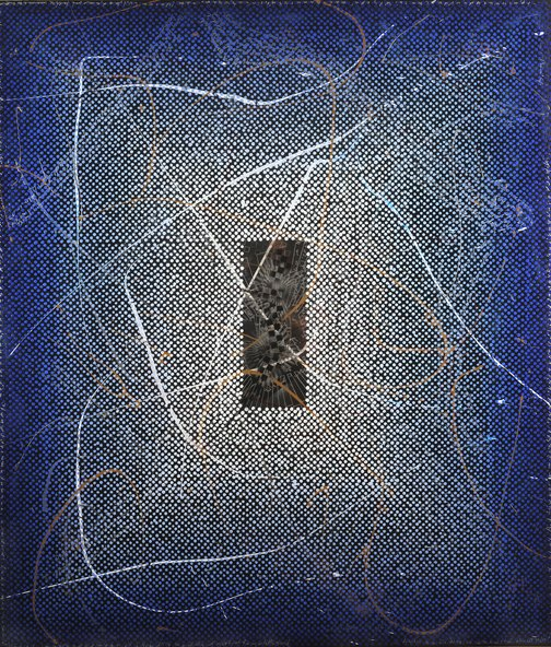 NT9, 2011, acrylic on canvs, with pulverized glass, 84 x 72 inches