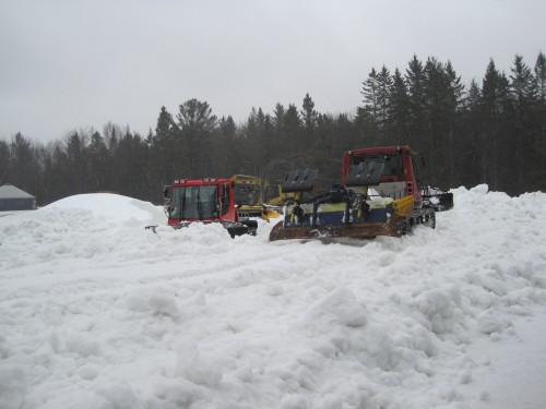 Craftsbury Piles of snow