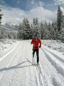 Mike Sinnott skiing Oct 23