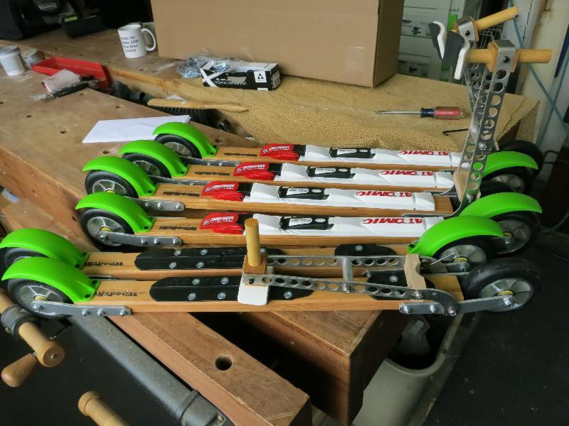 wood ski bindings