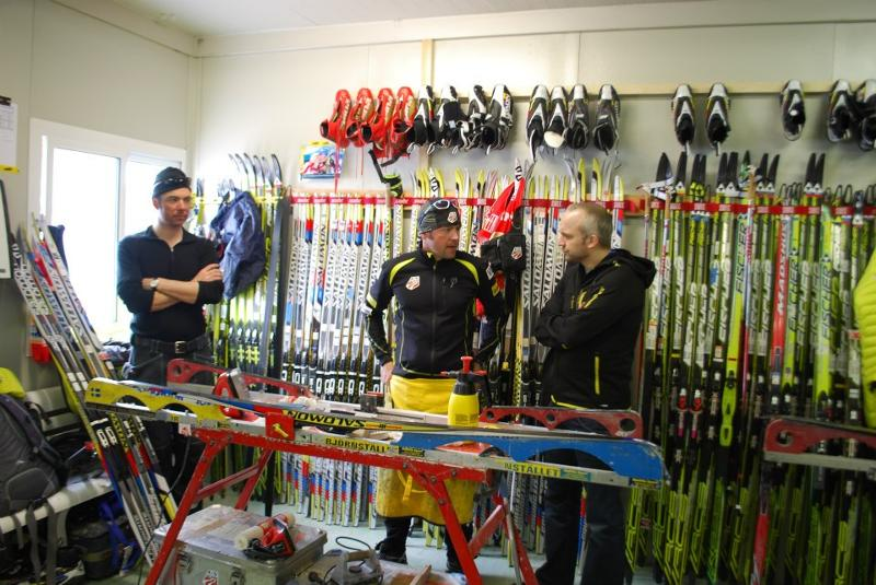 Salomon Nordic visits US Wax Room