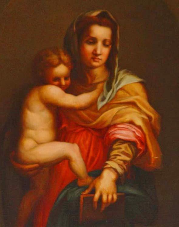 Madonna / Child painting