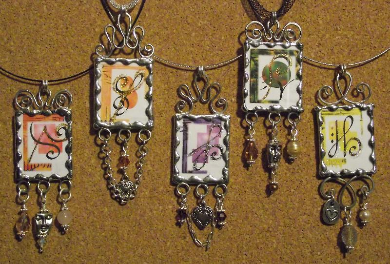 5 Glass Pendants