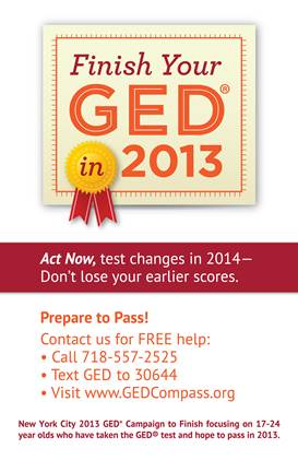 GED 2013 Campaign to Finish