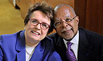 Billie Jean King and Henry Louis Gates in Finding Your Roots, Born Champions