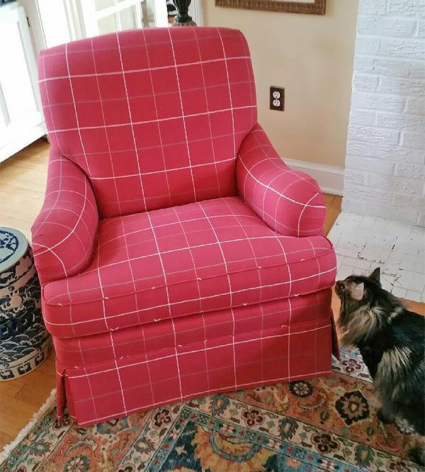 Reupholstered Chair After