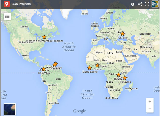 Map of CCA projects May 2015