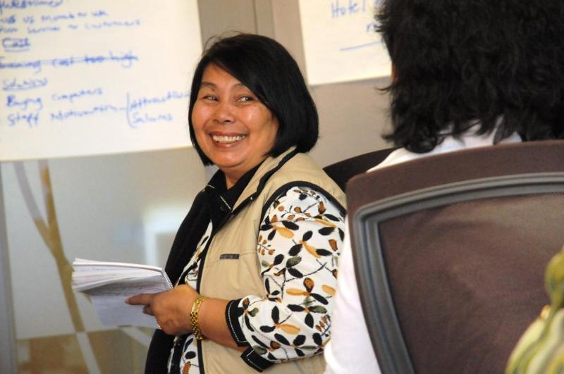 Women's Mentorship Program 2011 participant Aurea de Ramayo