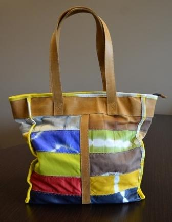 Leather patchwork bag for CDF Co-op Wee auction