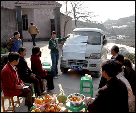 A Gung Ho training event at Renshou Orange Growers Co-op in Sichuan