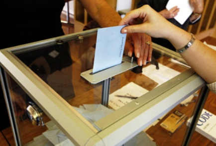 transaprent voting booth