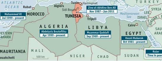 Map of Tunisia