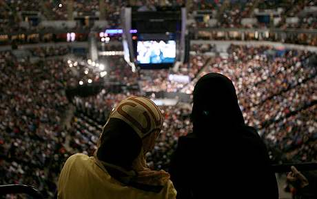 Muslims at Obama Rally