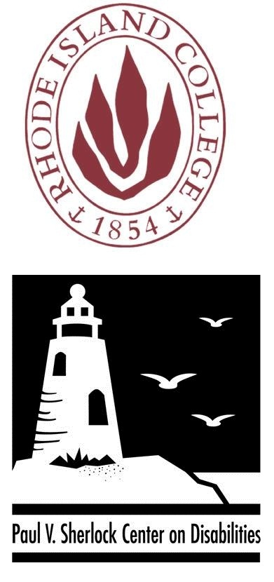 Graphic of Rhode Island College and Sherlock Center logos