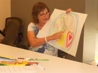 Elva Villarreal at the H.O.P.E. workshop