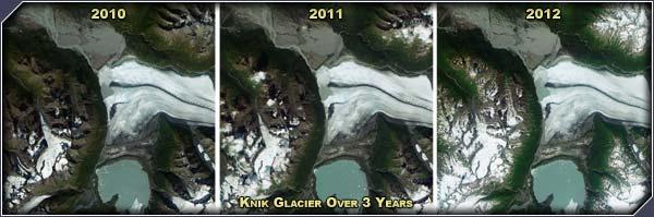Knik Glacier 2010, 2011, 2012 - Click for larger image