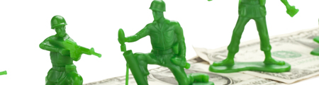 Toy Green Army Men promoting the Kubotek Quarterly Newsletter - The Drill Sergeant Edition