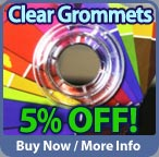 Save 5 percent on plastic grommets this month!