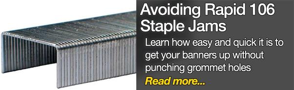 Avoiding jammed staples in the Rapid 106 electric stapler