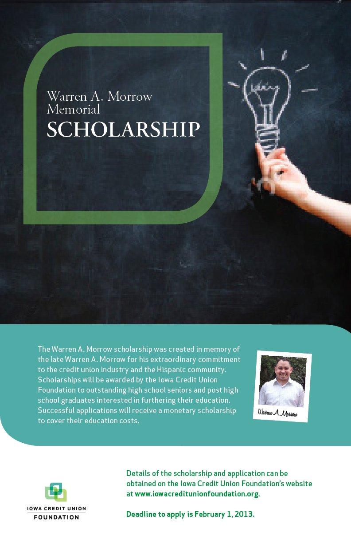 WAM Scholarship Poster 2013