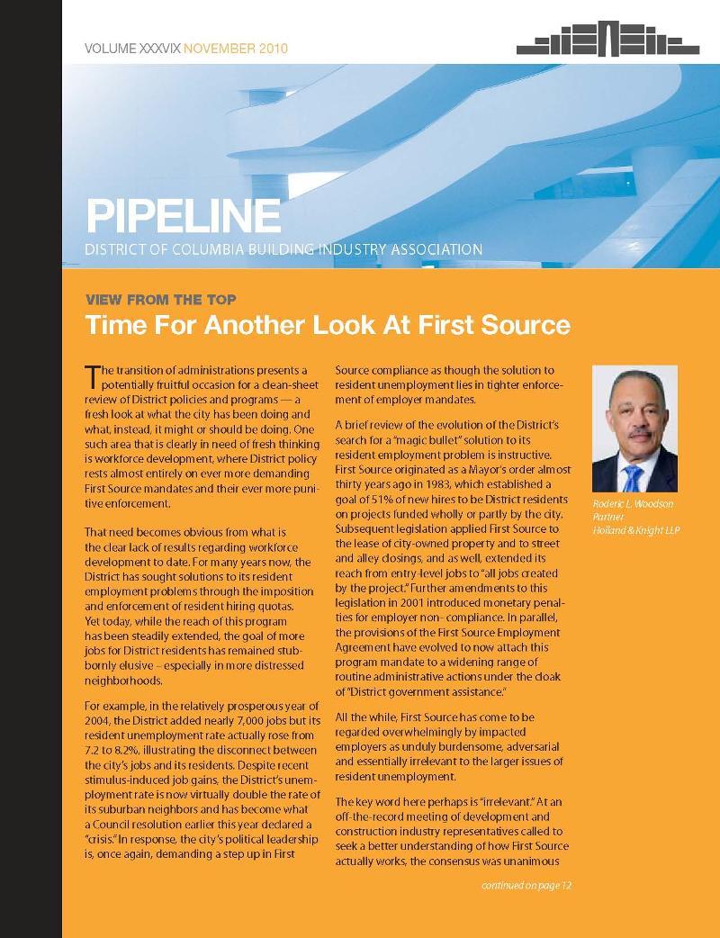 DCBIA NOV 2010 Pipeline
