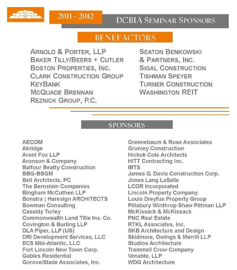 NEW 2011/12 Sem Sponsors