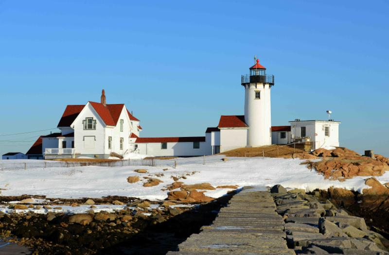 Light House with Snow