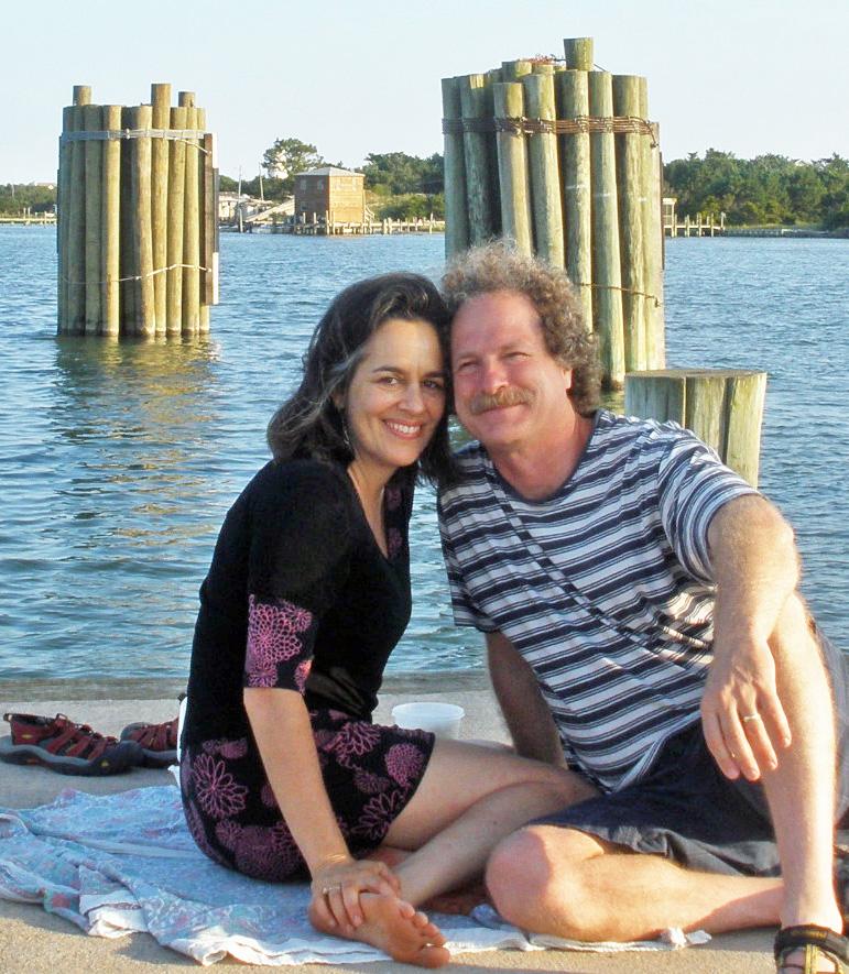 Amy & Paul dockside in North Carolina