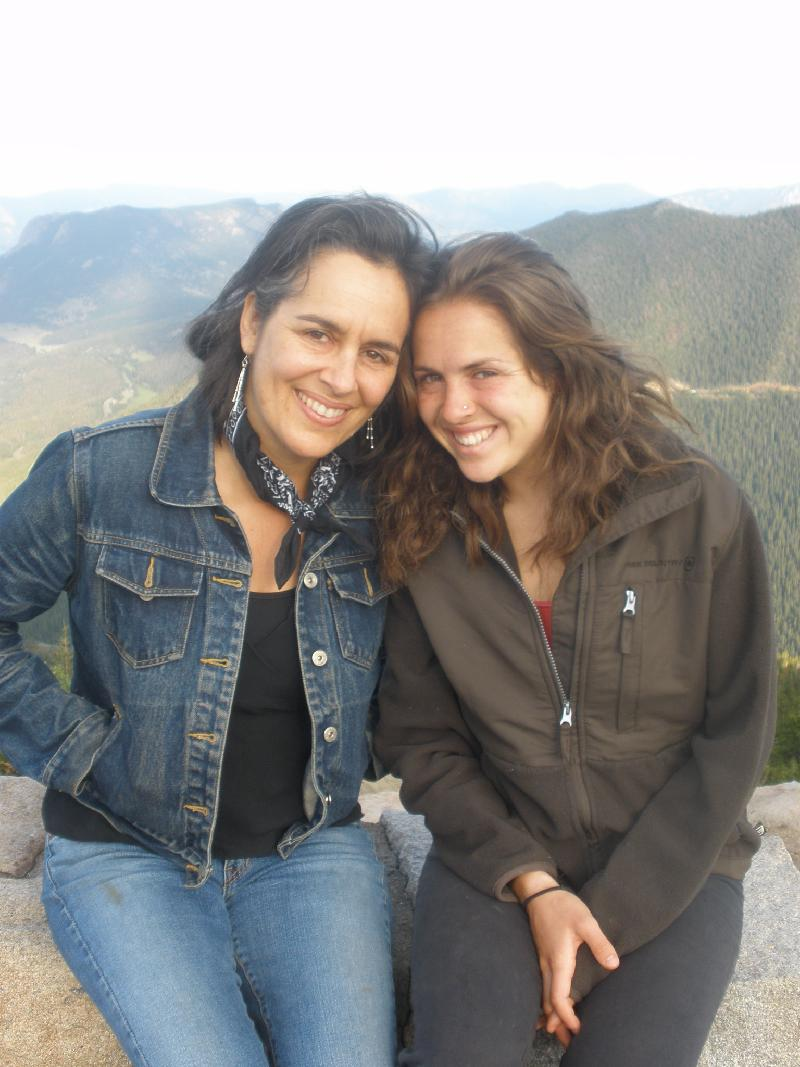amy & sophie in the mountains