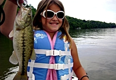 sunglass fishing girl baby