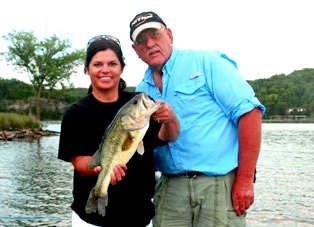 Lisa Methany with a Fish