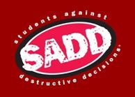 SADD logo red reverse