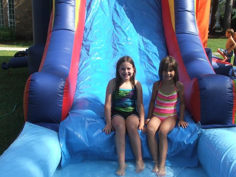 girls water slide