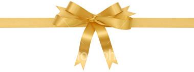 Gold Gift Ribbon