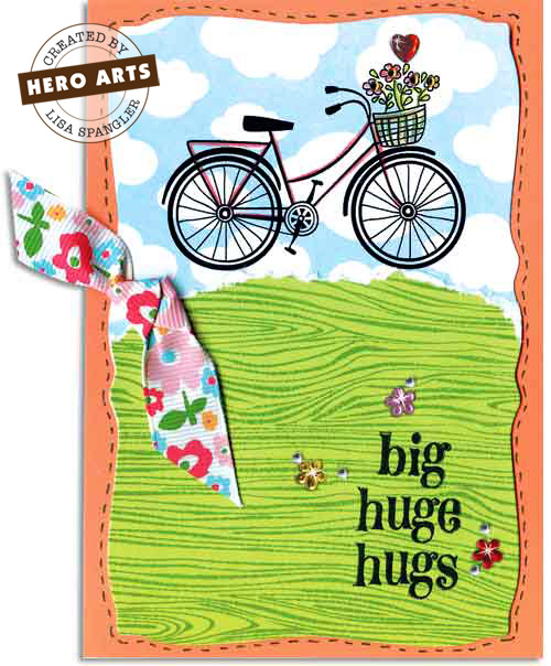 lisa spangler big  hugs card