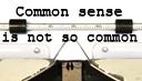 Typewriter Common Sense
